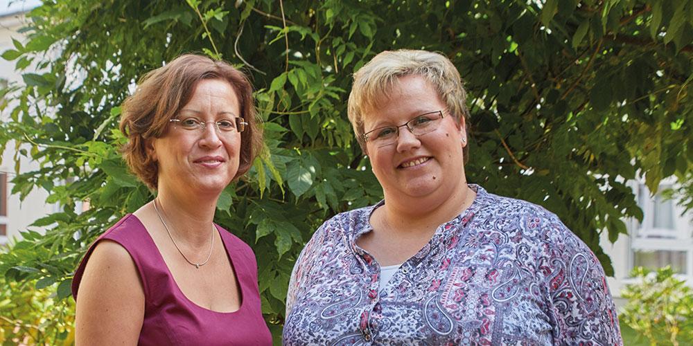 Karin Grote und Janine Wiegmann-Siegel